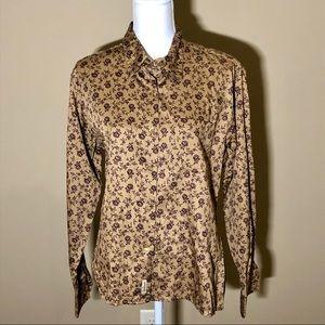 Woolrich Long-Sleeve Cotton Button Down Top Blouse